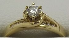 SOLID 18CT YELLOW GOLD NATURAL DIAMOND ENGAGEMENT/DRESS RING-VALUED AT $2880.00