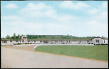 ST CLAIRSVILLE OH OHIO Skyline Motel Vtg Rt 40 Roadside Postcard Old O Town View