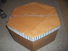 Vintage?? Used Exclusive Ranleigh Hats Tan?? Brown??  Hat Box only good decor