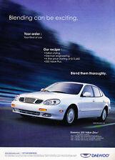 2000 Daewoo Leganza CDX - white -  Classic Vintage Advertisement Ad D08