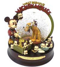 PLUTO Snowglobe RARE 75th Anniversary Mickey DISNEY FR*E SHIP 2005 NEW PRISTINE