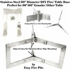 "BASE304 DIY 304 STAINLESS OUTDOOR 30"" TABLE BASE for Fire Pit/ Table; BASE ONLY"