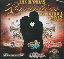 Las Bandas Romanticas De America 2013 CD NEW Varios ALBUM 12 Canciones !