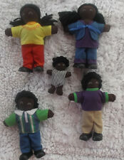Lakeshore Ethnic Soft & Poseable African American/Black Doll Family Set of 5 HTF