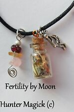 Fertility Boost Conception Spell Charm Necklace© 20+yrs exp. Pagan Wicca Witch