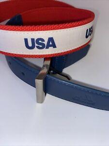 Men's Sample ADIDAS GOLF Red, White & Blue USA Belt One Size XL