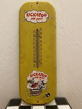 "1966 Kickapoo Joy Juice Thermometer 6""x16"""