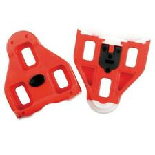 Look Delta Red Road Bike Bicycle Pedal Cleats 9 Degree Float 3 Hole With Fixings