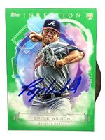 2019 Topps Inception Hand Signed Green Parallel Bryse Wilson RC Atlanta Braves