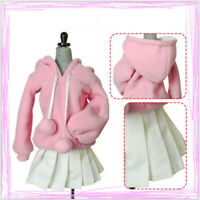 1/3 BJD Dolls Clothes Fashion Pleated Skirt Pink Doll Skirt Hoodies Outfit