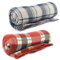 Luxury Soft Warm Bed Sofa Fleece Blanket Throw Polar Travel 120 x 150cm