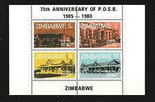 Zimbabwe 1980 75th anniversary of Post Offices on S/S Sc#434-437 MNH