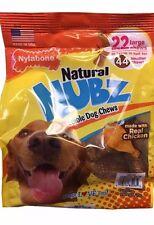 Nylabone Natural Nubz Edible Dog Chews 22 large treats 2.6 lb jumbo bag chicken