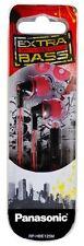Panasonic RP-HBE125MEK In-Ear Earphone (Black/Red)