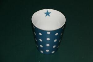 Krasilnikoff Becher Tasse Mug, Happy Mugs (Dots blau)