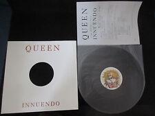 Queen Innuendo UK Promo Vinyl 12 inch Single Japan Press Release Freddie Mercury