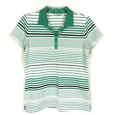 Lady Hagen S Green Striped Polo Top Shirt Short Sleeve Golf Womens Size S