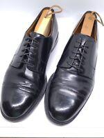 COLE HAAN Men's Black Cap Toe Leather Oxford Dress Shoes Size 8.5 D