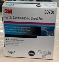 3M 30711 Hookit 734U Purple 70 mm x 12 m P120 Grit Clean Sanding Sheet Roll