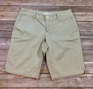Banana Republic Womens Flat Front Ryan Fit Chino Shorts 4 Khaki Casual GUC O3