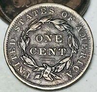 1837 Large Cent Coronet Head 1C High Grade Choice Stunning US Copper Coin CC4792