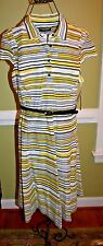 NINE WEST PREPPY DRESS SUNSHINE STRIPED COMBO LADIES SIZE 18 NWT $79