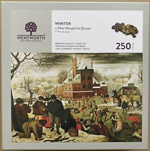 """WENTWORTH """"Winter"""" by Peter Brueghel the Younger 250 piece Wooden JIGSAW PUZZLE"""