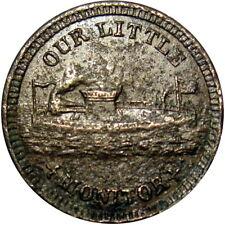 1863 Our Little Monitor Patriotic Civil War Token