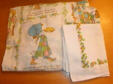 Vintage Holly Hobbie Twin Fitted Bed Sheet & Pillowcase Hobby