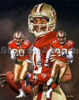 Jerry Rice  San Francisco 49ers Wide Receiver 3 NFL Football 8x10-48x36 CHOICES
