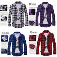 new Herren Herrenmode Shirts Shirt Hemden Slim Fit Langarm Freizeithemd L/P