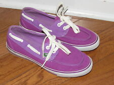 Lacoste Purple Canvas Fashion Sneakers Moccasin Shoes size 6
