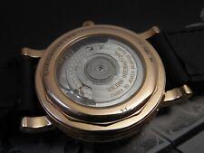 18K SOLID ROSE GOLD WALDAN DAY DATE GMT POWER BLACK BREGUET HANDS MSRP $12995.00