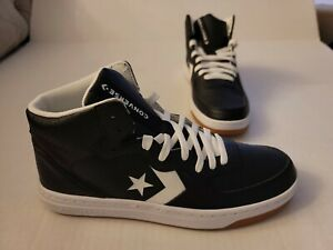 CONVERSE RIVAL MID BLACK-WHITE 164891C MENS 9.5 SNEAKERS LEATHER NEW C04