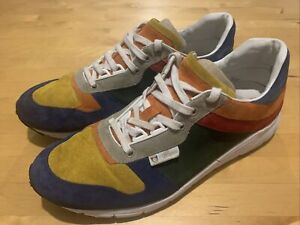 Mens Gucci Trainers Sneakers Leather Suede Multicolour Size 9
