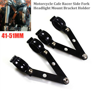 41-51MM Caliber Adjustable Motorcycle Side Fork Headlight Mount Bracket Holder