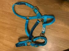 Turquoise Leopard  Nylon Halter by Ronmar   Size: Large Horse  NEW!