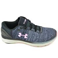 Under Armour Charged Bandit 3 Women's Size 6.5 Gray Black Pink Running Shoe