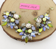 Rhinestone Multilayer Flowers Bracelets Jewelry Betsey Johnson Fashion Enamel