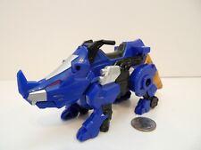 Power Rangers Dino Thunder Blue Triceritops Zord Vehicle #31367 Bandai 2009 Rare
