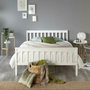 Small Double Bed Wooden Frame Wooden Small Double White Bed Frame RRP £180