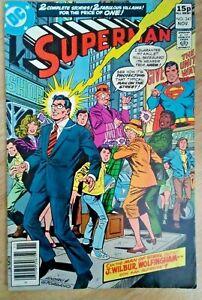 DC~SUPERMAN #341~VFn~Pence Variant~Bag/Board~