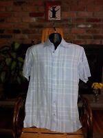 Lot of 2 Joseph & Feiss Men's Short Sleeve Casual Works Shirts Size Medium