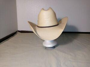 Resistol Self Conforming Cowboy Hat Genuine Shantung Panama Long Oval 7 1/8