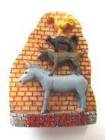 Bremen Stadtmusikanten Magnet Poly Rolle 6,5 cm ,Souvenir Germany New !