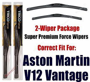 Wipers 2-Pack Hi-Performance - fits 2015+ Aston Martin V12 Vantage - 25260/200