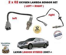 FOR LEXUS LS600H 5.0 2UR-FSE 4X4 2007--> LEFT + RIGHT 02 OXYGEN LAMBDA SENSOR X2
