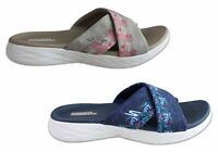 Skechers Womens On The Go 600 Monarch Cushioned Slide Sandals - ShopShoesAU