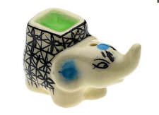 Beige Elephant Incense Cone Holder Ash Catcher Burner Gift Decorative Ceramic UK