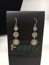 FIREFLY La Dolce Vita Round Drop Earrings - Multicolor Silver (E2)